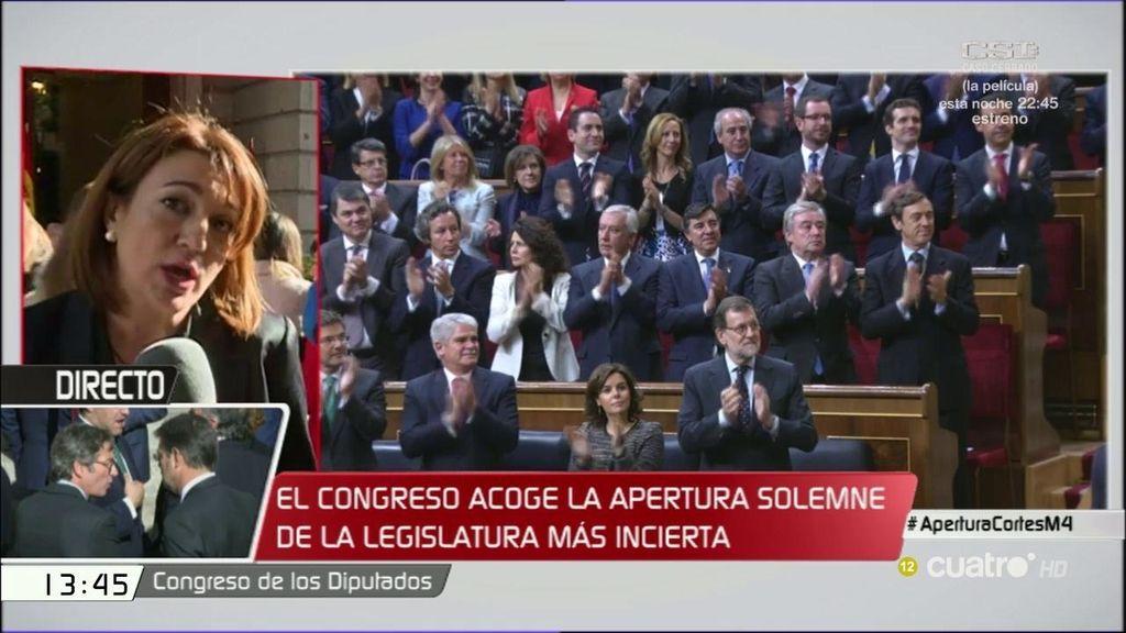 """Soraya Rodríguez: """"En el PSOE no interpretamos las palabras del monarca"""""""