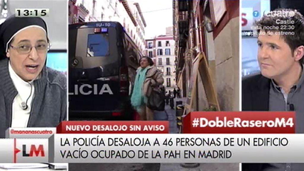 """Sor Lucía: """"¿Dónde está la Constitución que garantiza que todo el mundo tiene derecho a un techo?"""""""