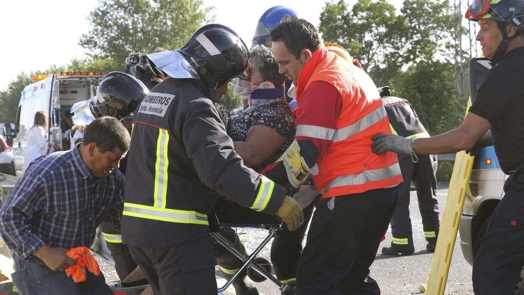 Accidente, tráfico, Palencia,