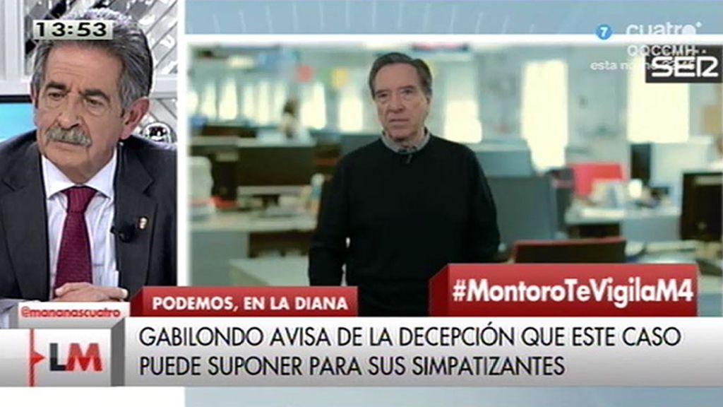 """Gabilondo: """"Podemos se va a defender bien de las acusaciones pero le va a costar más defenderse de las decepciones"""""""