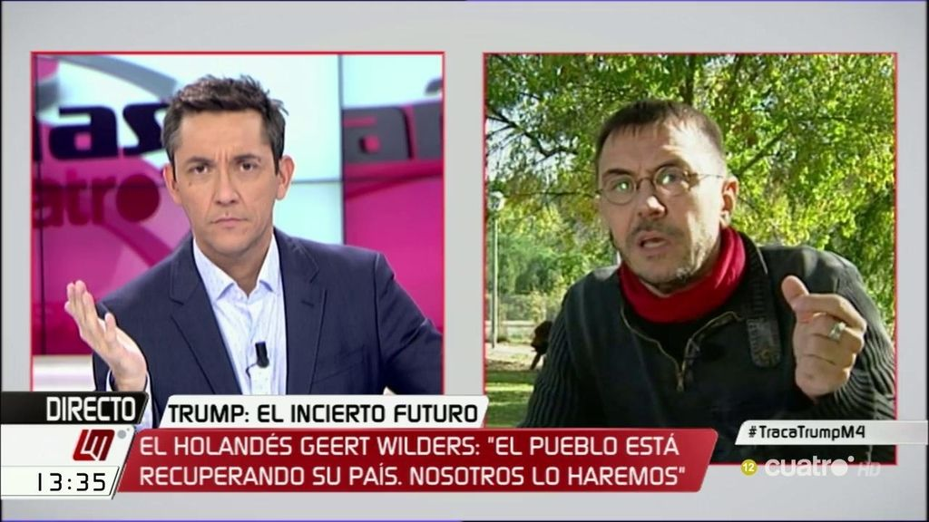 """Monedero: """"La ultraderecha emergente en Europa va a hacer políticas no muy diferentes a la mediocre coalición de España"""""""