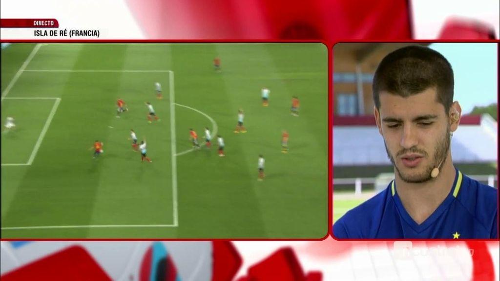"""Morata habló con los defensas italianos: """"Me han dicho que me ponga casco para jugar"""""""