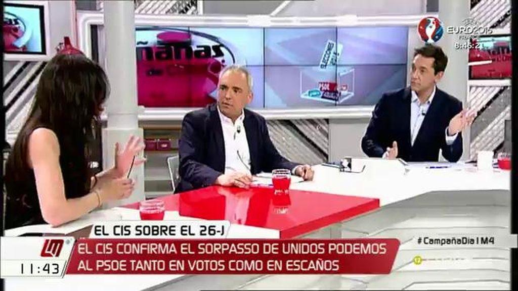 """Rafael Simancas, a Sol Sánchez: """"Rajoy es presidente del Gobierno por tu voto, el de Garzón y el de Iglesias"""""""