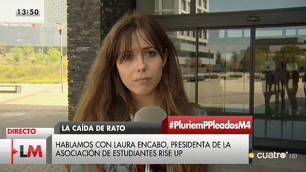 Los alumnos de la URJC presentan 74.000 firmas para retirar el 'Honoris Causa' a Rodrigo Rato
