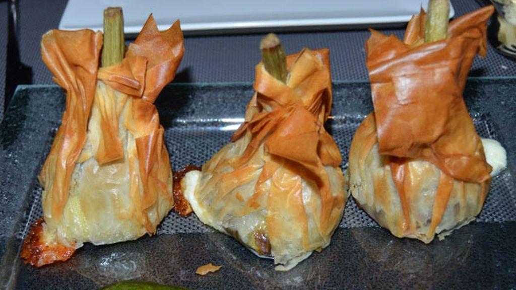 Alcachofa Crujiente Rellena de Queso Pecorino