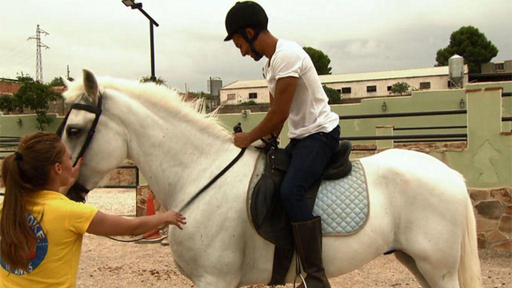 ¡Vaya clase de equitación la de Jorge!