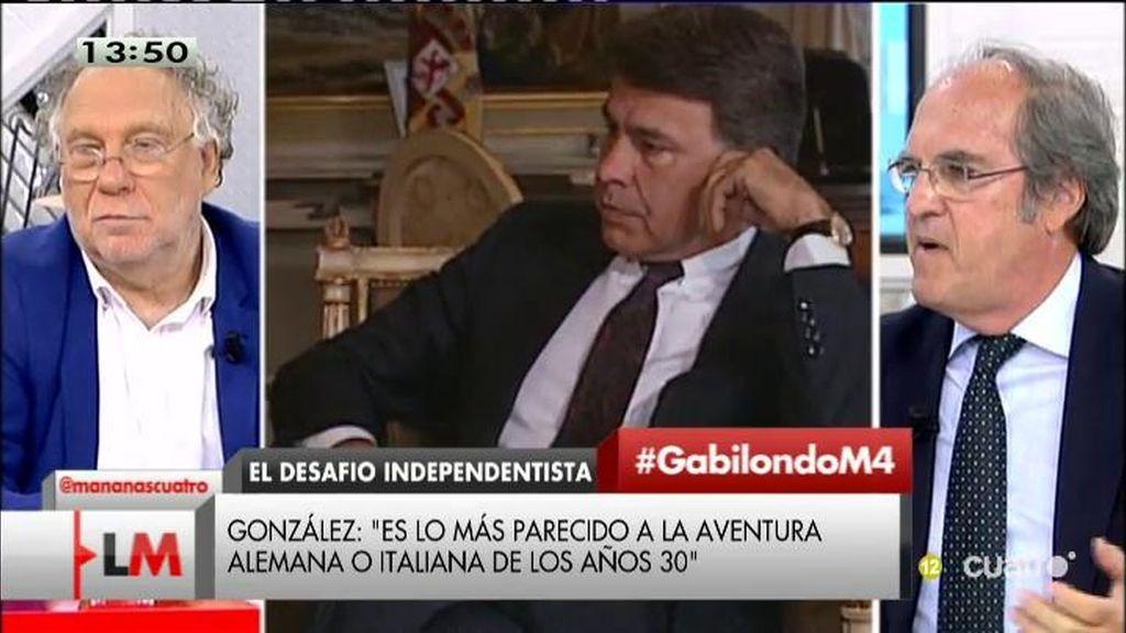 """Ángel Gabilondo: """"Me gusta el artículo de Felipe González, pero no me adhiero a cada adjetivo"""""""