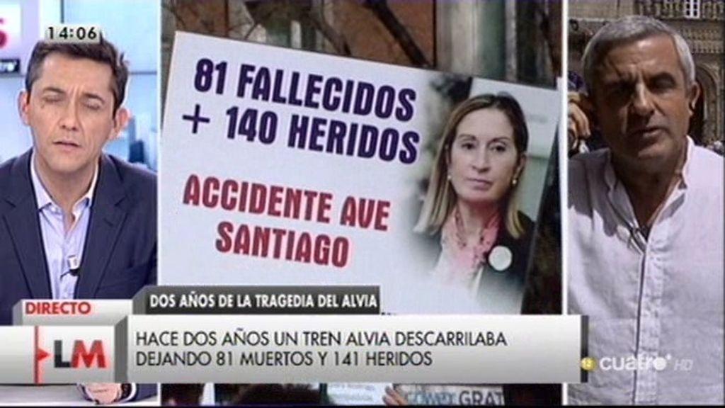 """Víctima del Alvia: """"La instrucción está estancada y las aseguradoras no pagan"""""""