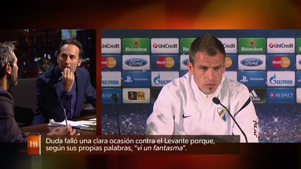 Duda falló una clara ocasión de gol contra el Levante porque vio un fantasma