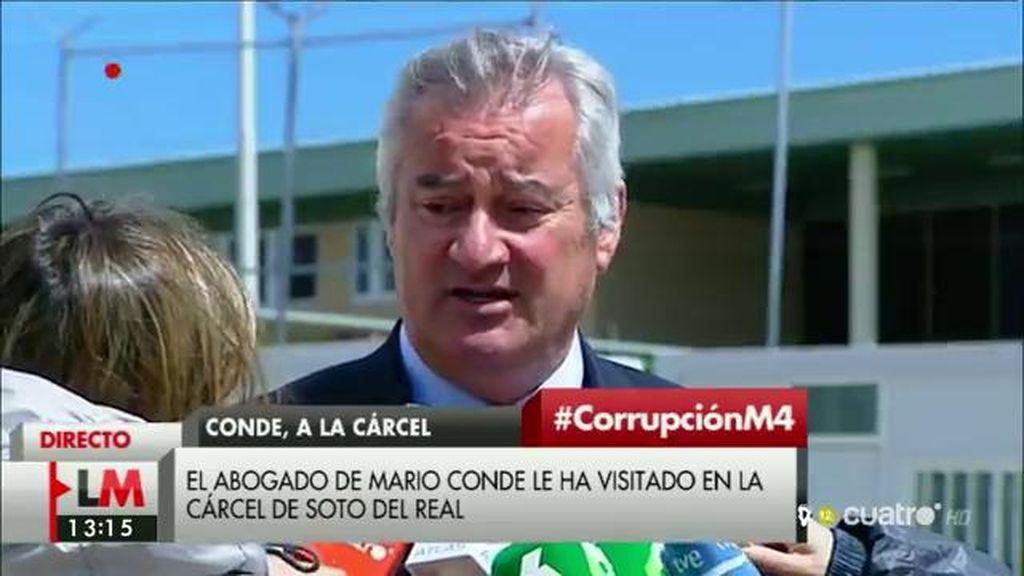 """El abogado de Mario Conde: """"Me ha asegurado que ese dinero no tiene origen en Banesto"""""""
