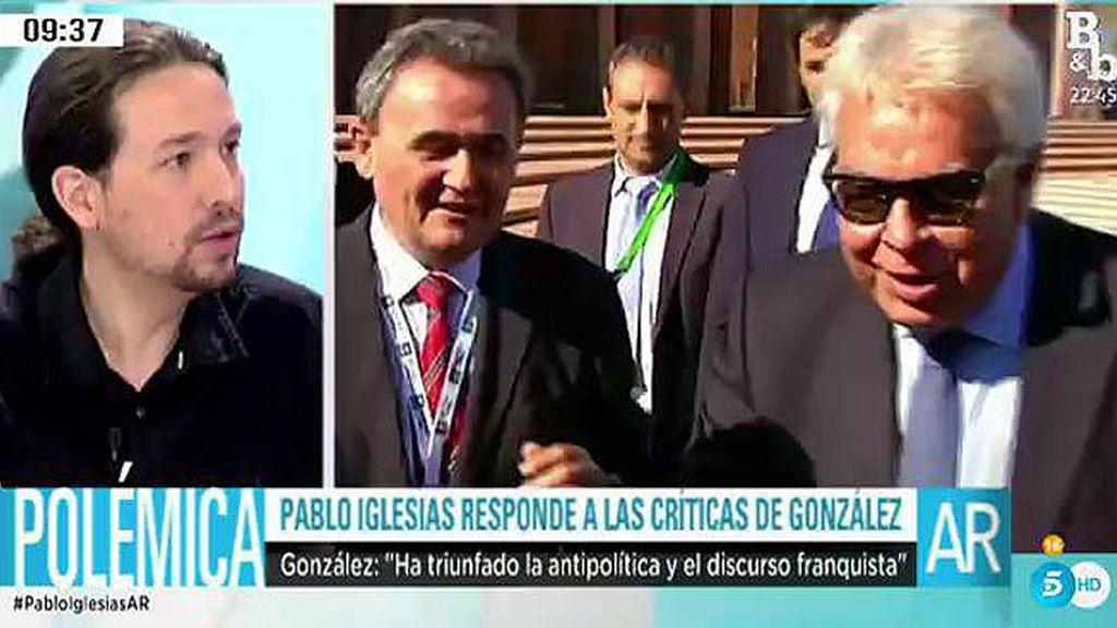 """Iglesias sobre las declaraciones de González: """"La decrepitud no es algo físico, es moral"""""""