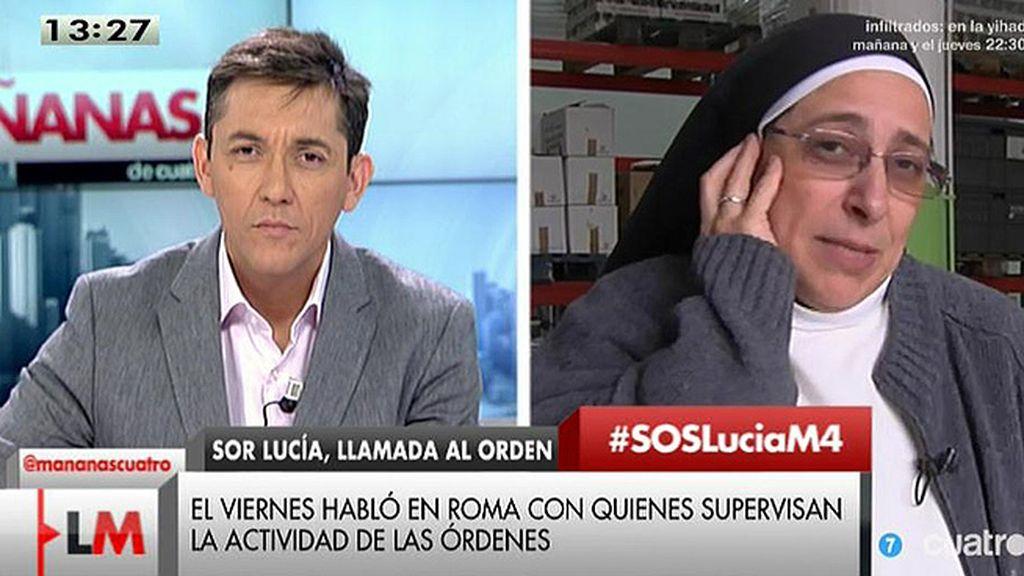 """J. Ruiz: """"Interior desmiente rotundamente a Sor Lucía, dice que no hay presión alguna"""""""
