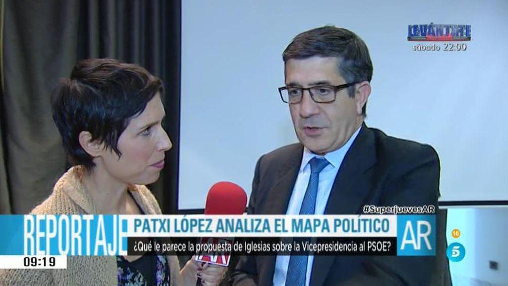 """Patxi López:  """"Espero que hayamos entendido lo que significa de verdad pactar"""""""