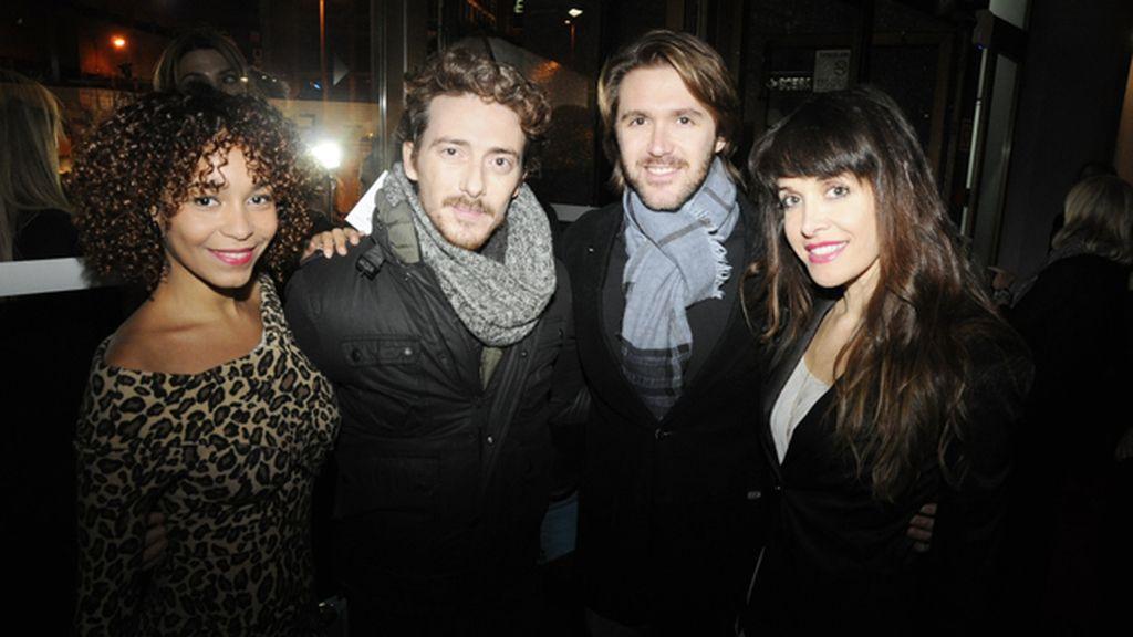 Montse Pla, Victor Clavijo, Manuel Velasco y Marian Zapico