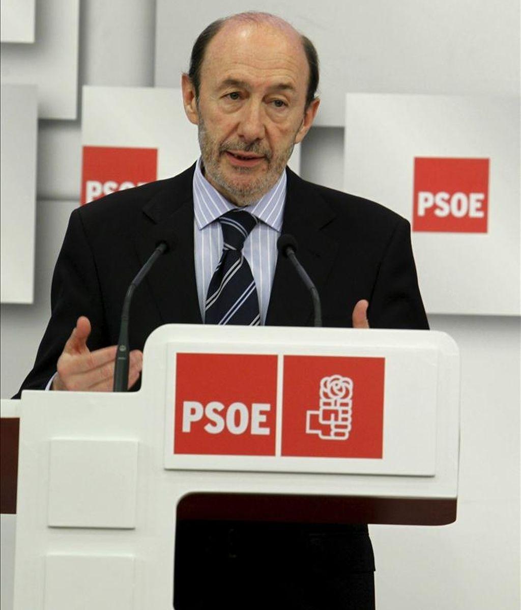 En la imagen, Alfredo Perez Rubalcaba. EFE/Archivo