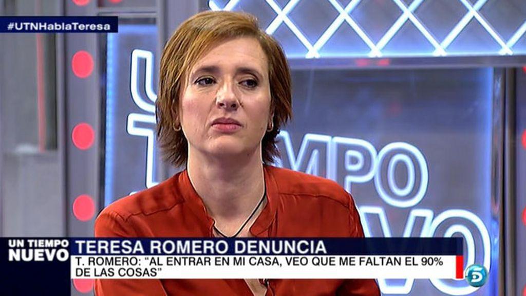 "Teresa Romero: ""Al volver a mi casa, vi que faltaban el 90% de las cosas"""