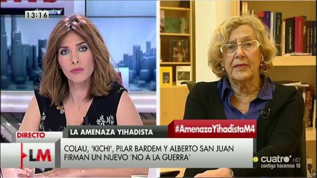 """Manuela Carmena: """"Siempre he estado contra la guerra y siempre lo estaré"""""""