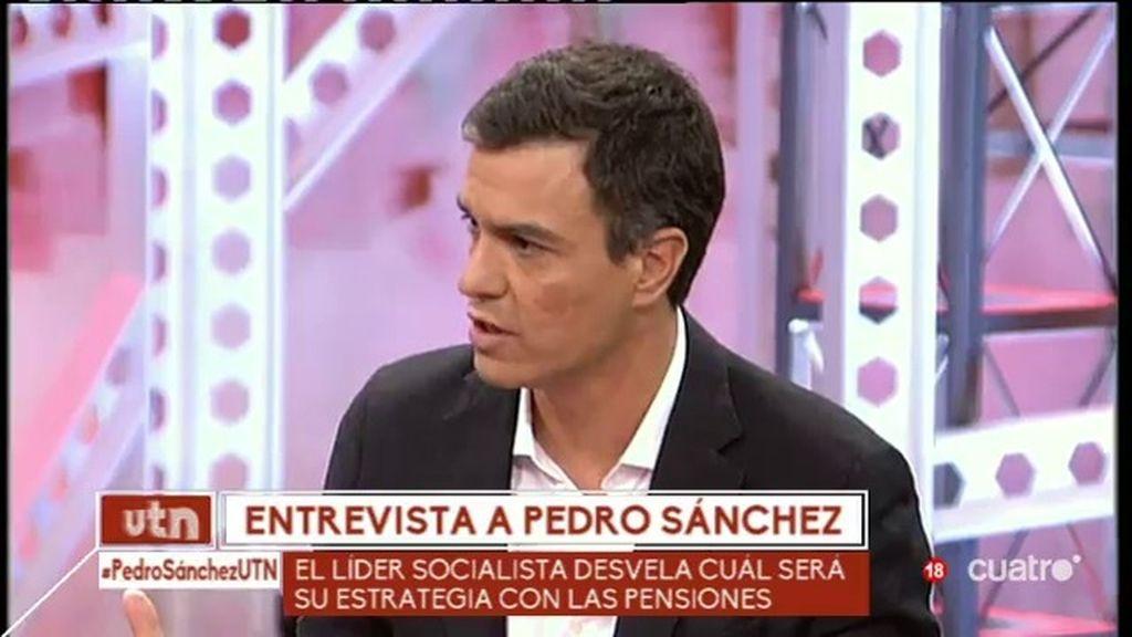 """Pedro Sánchez: """"Queremos que parte de las pensiones se financie con nuevos impuestos"""""""