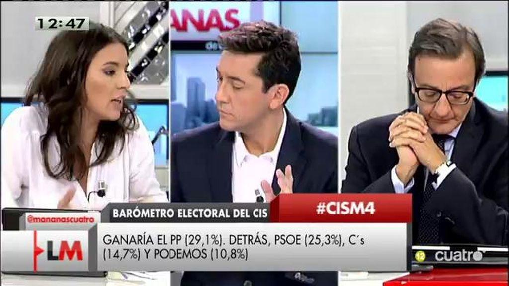 """I. Montero: """"Creemos que las encuestas están siendo muy incapaces de representar lo que la gente siente"""""""