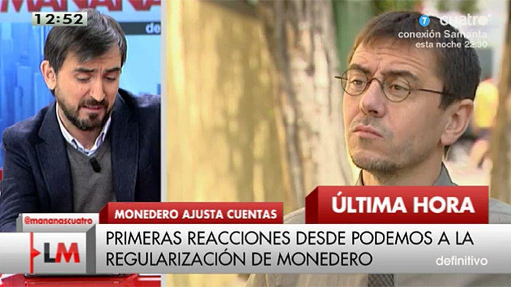 Podemos niega que Juan Carlos Monedero haya cometido fraude a Hacienda