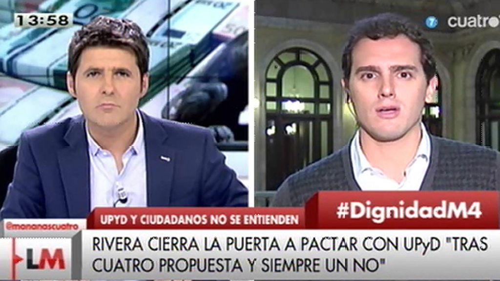 """A. Rivera: """"Queríamos plantear un proyecto y Rosa Díez y su equipo no han querido sumarse"""""""