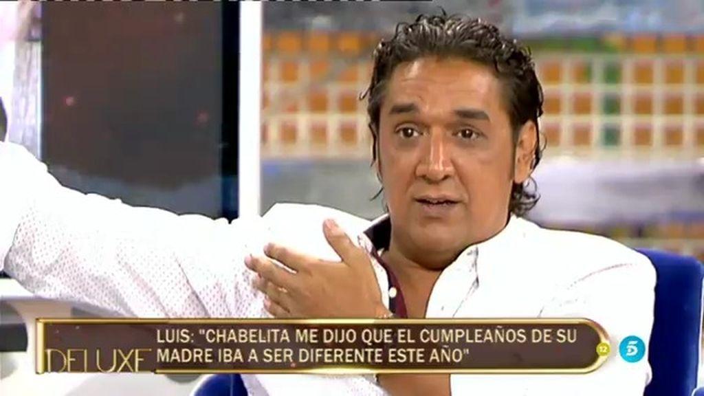 """Luis Amaya: """"Chabelita me ha dicho que el cumpleaños va a ser diferente…sin payasos"""""""