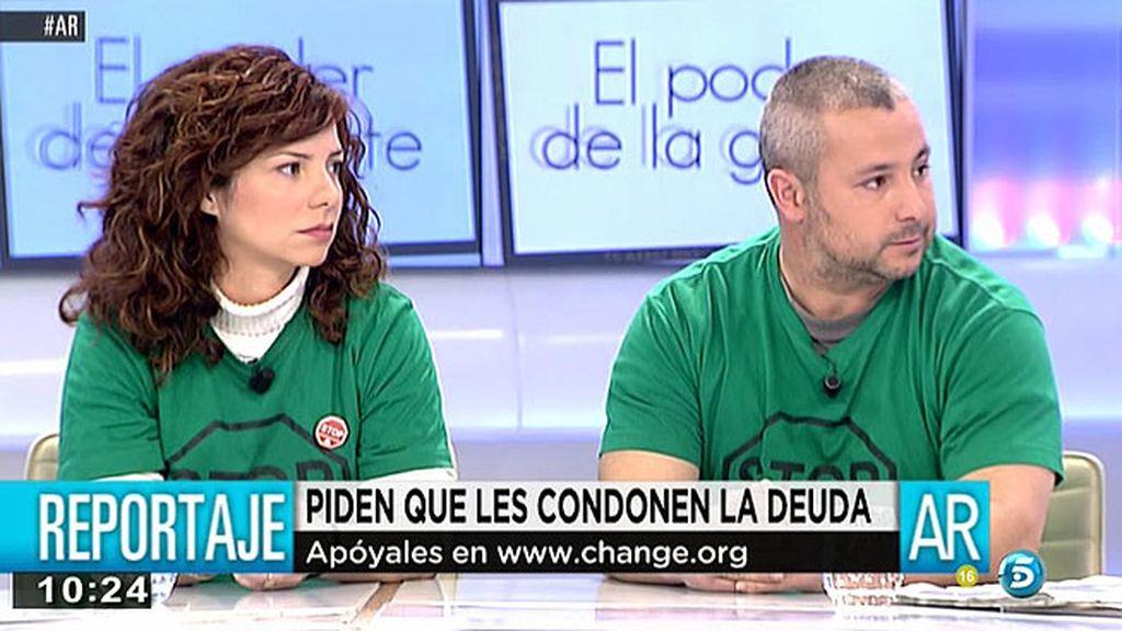 Sonia y Paco piden que el banco les condonen una deuda después de perder su casa