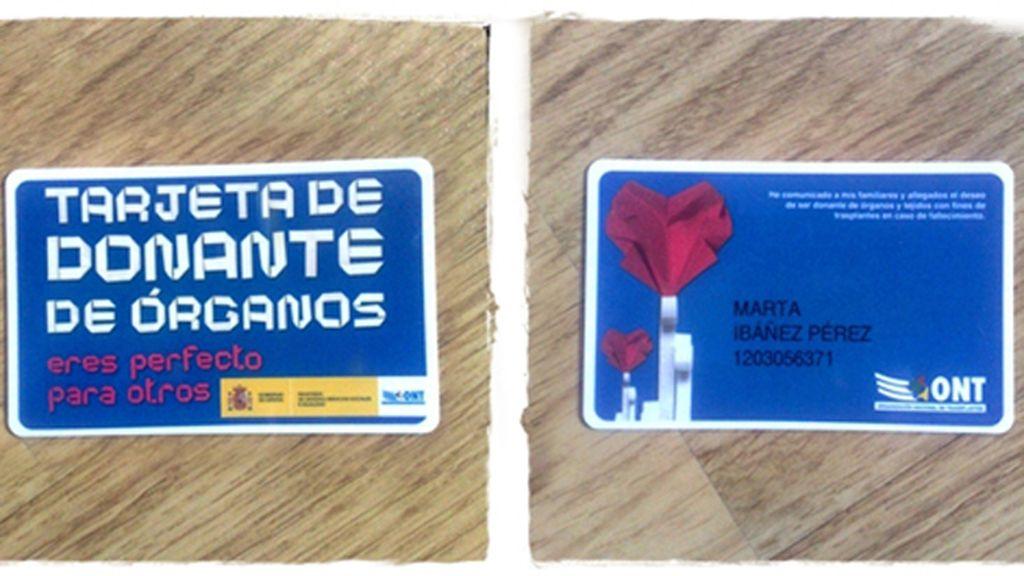 La tarjeta de Marta Ibáñez