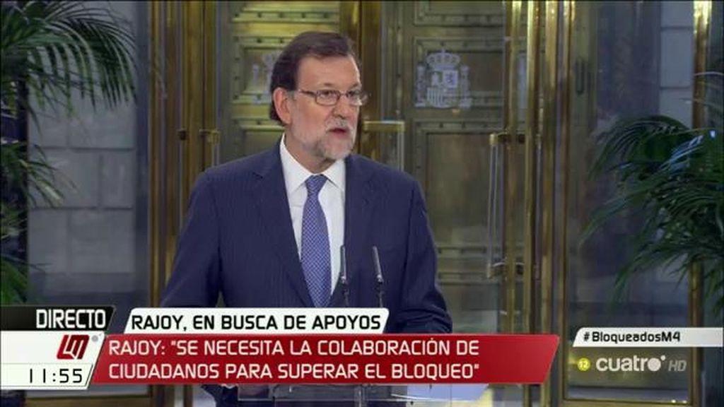 """Rajoy: """"Sin algún compromiso del PSOE no habrá gobierno y sin algún compromiso de C's no habrá estabilidad para gobernar"""""""