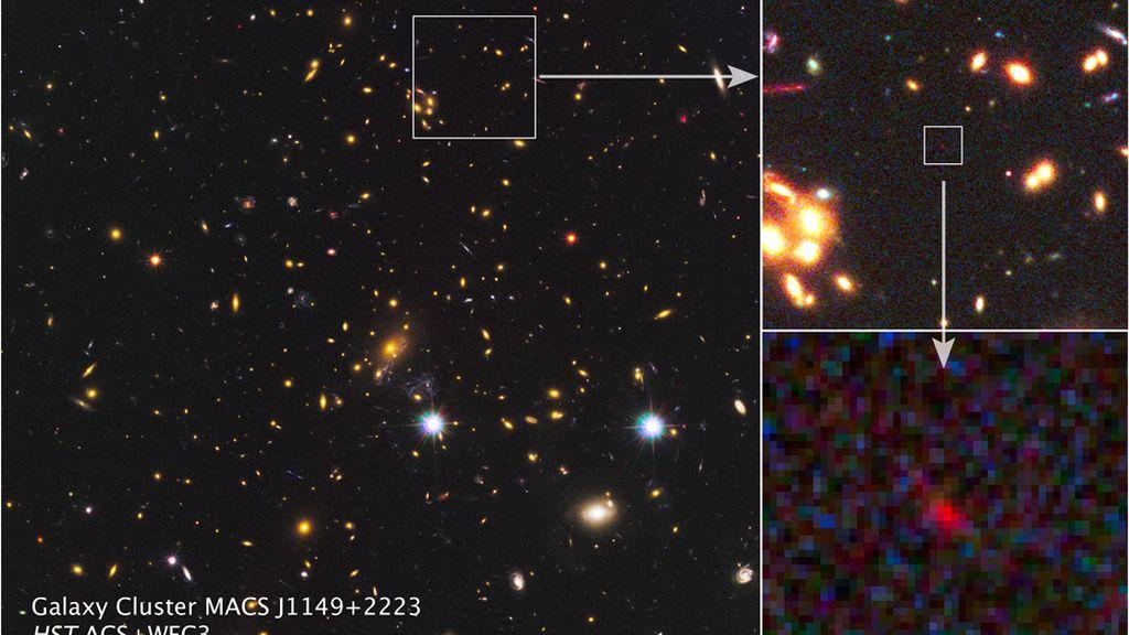 MACS J1149+2223, galaxia, descubrimiento, teoría big bang