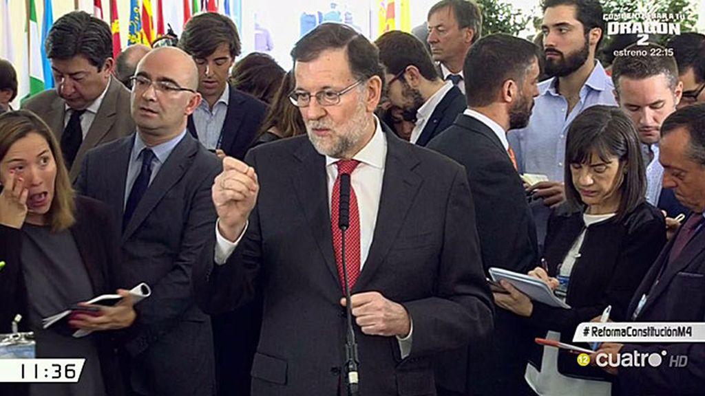 """Mariano Rajoy: """"No se va a reformar la Constitución para favorecer a unos pocos"""""""