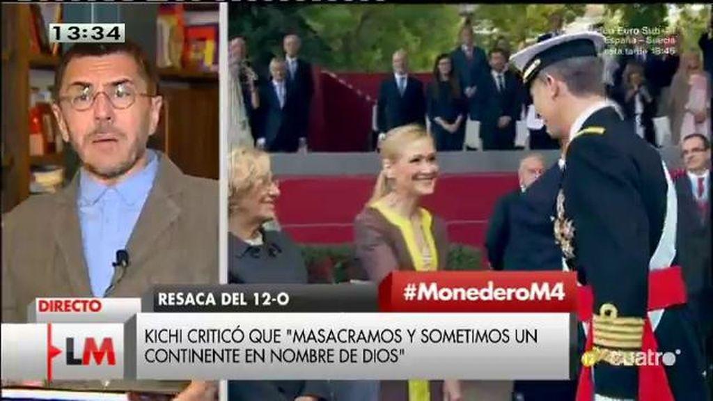 """Monedero, sobre el 12 de octubre: """"Deberíamos encontrar un punto de referencia común"""""""