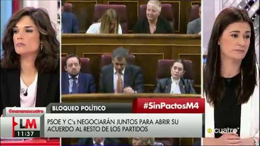 """Clara Serra (Podemos): """"Que el PSOE diga que tiene que ir de la mano con Ciudadanos nos parece ridículo"""""""