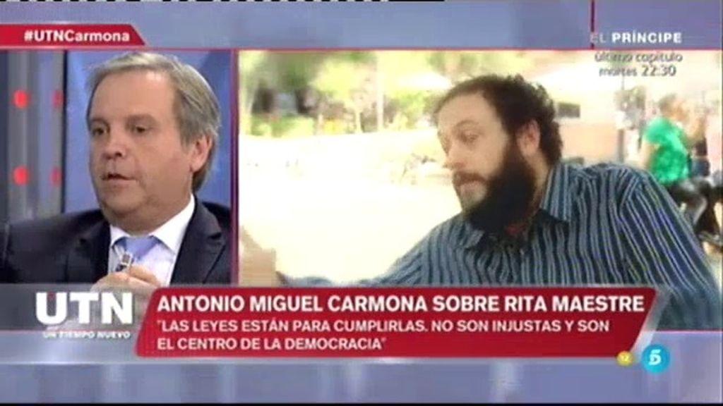 """Antonio Miguel Carmona: """"Le pedí a Carmena que cesara a Zapata y lo cesó"""""""
