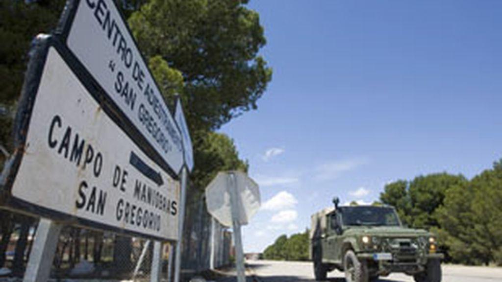 Muere un sargento en el campo de adiestramiento de San Gregorio, en Zaragoza. Foto:EFE