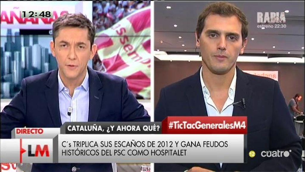 """Albert Rivera: """"C's ha sacado lo mismo en escaños que PP y PSOE juntos en Cataluña"""""""