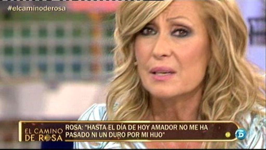 """Rosa Benito: """"Amador no me ha pasado ni un duro por nuestro hijo"""""""