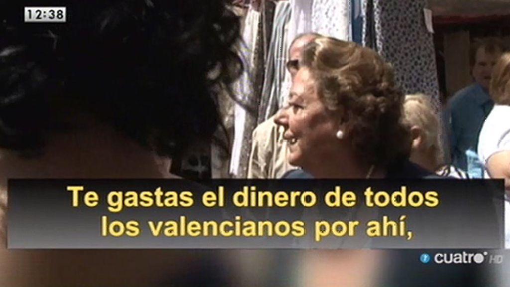 Rita Barberá, increpada
