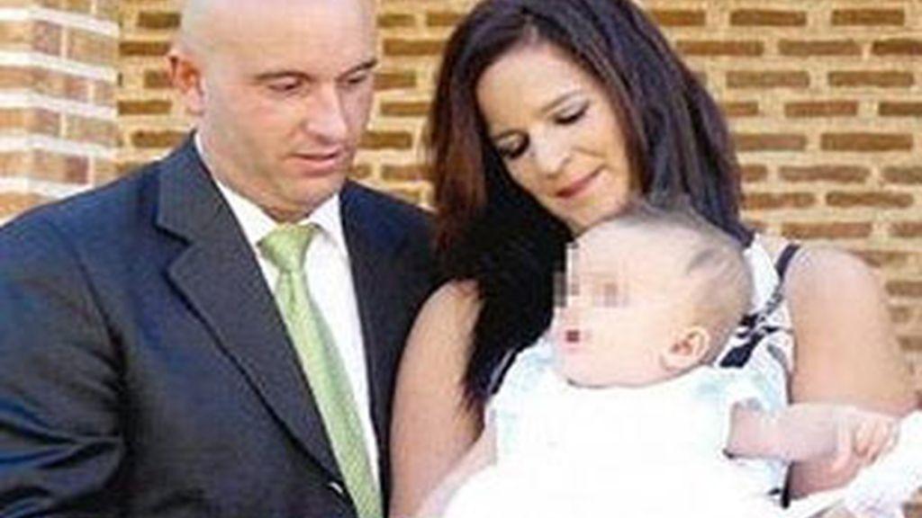 María Piedad y su ex novio, Javier, en una imagen de archivo