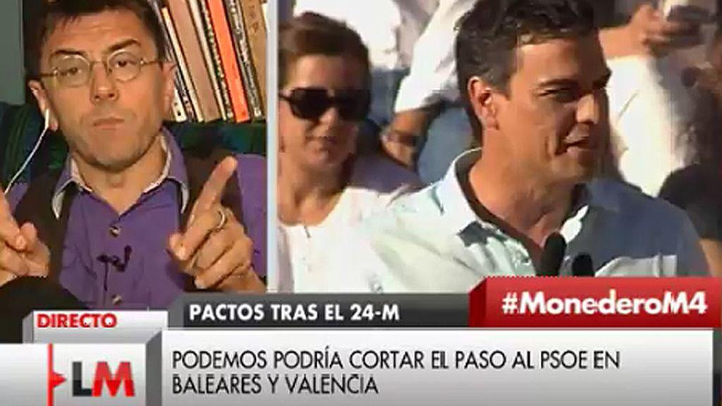 """Juan Carlos Monedero: """"Cuando Podemos empieza a juntarse con el PSOE, el riesgo del abrazo del oso está ahí"""""""