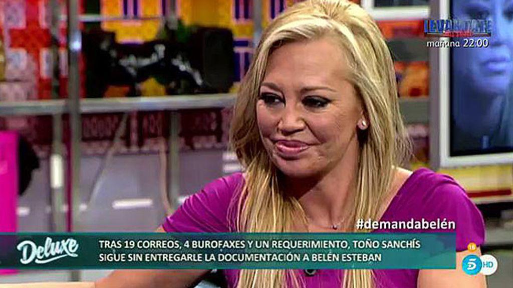 """Belén: """"Con mi madre no hablo de Toño, tiene 73 años y tengo que cuidarla"""""""