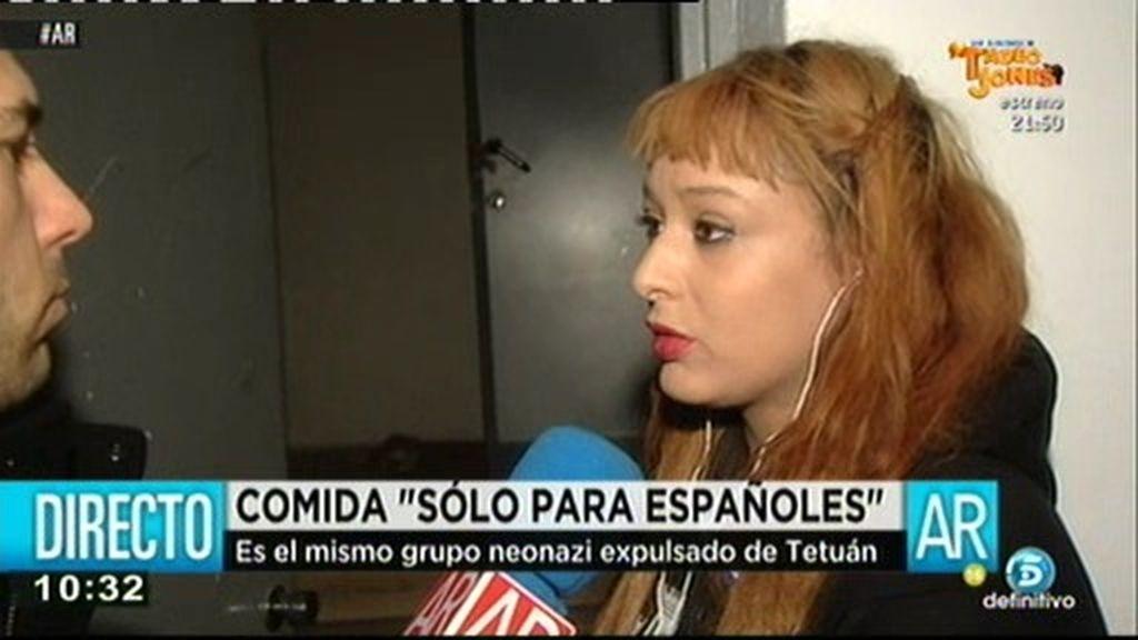 """Mónica, integrante del grupo 'Ramiro de Ledesma': Si vienen extranjeros les mandamos a otra asociación"""""""