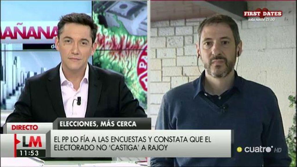 """J.P. Ferrándiz: """"Está rebajándose la estimación de participación y, cuanto menor sea, salen favorecidos partidos como el PP"""""""