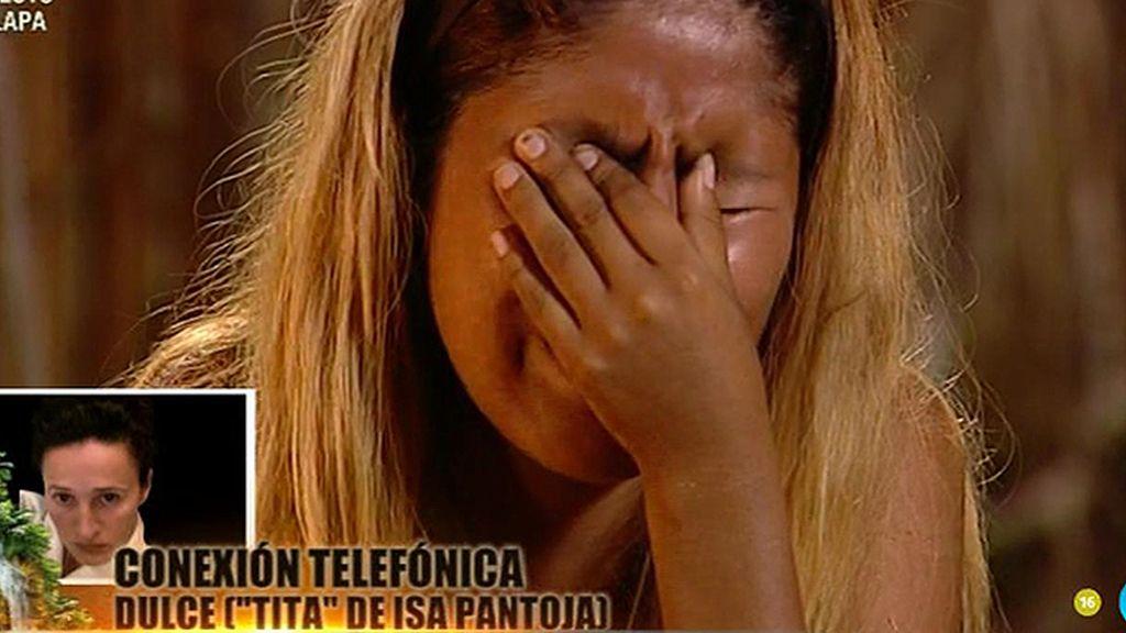 """Isa Pantoja, a Dulce: """"Si hablas con mamá, dile que la quiero"""""""