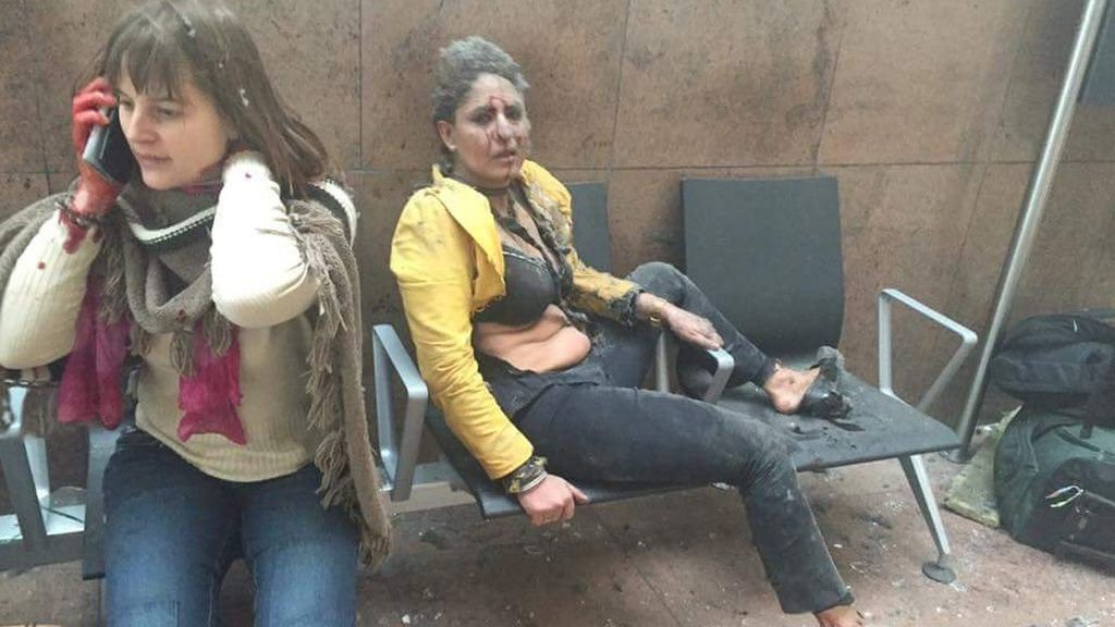 Caos en el aeropuerto de Bruselas por dos explosiones consecutivas