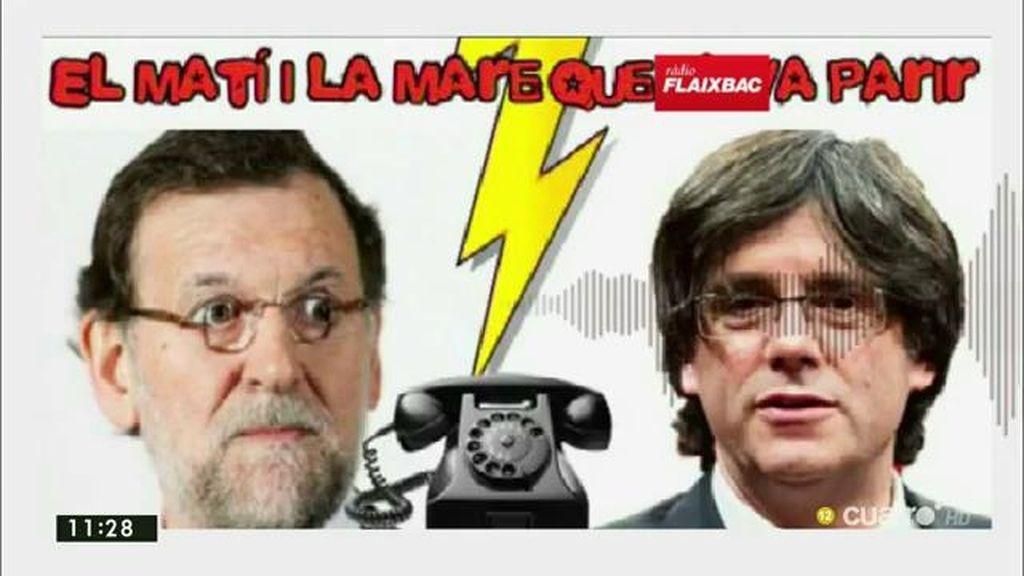 Un imitador de Puigdemont consigue hablar con un cordial Rajoy en una broma