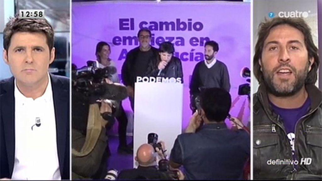 """J. Rodríguez (Podemos): """"Por primera vez habrá una oposición leal a la gente en el parlamento andaluz"""""""