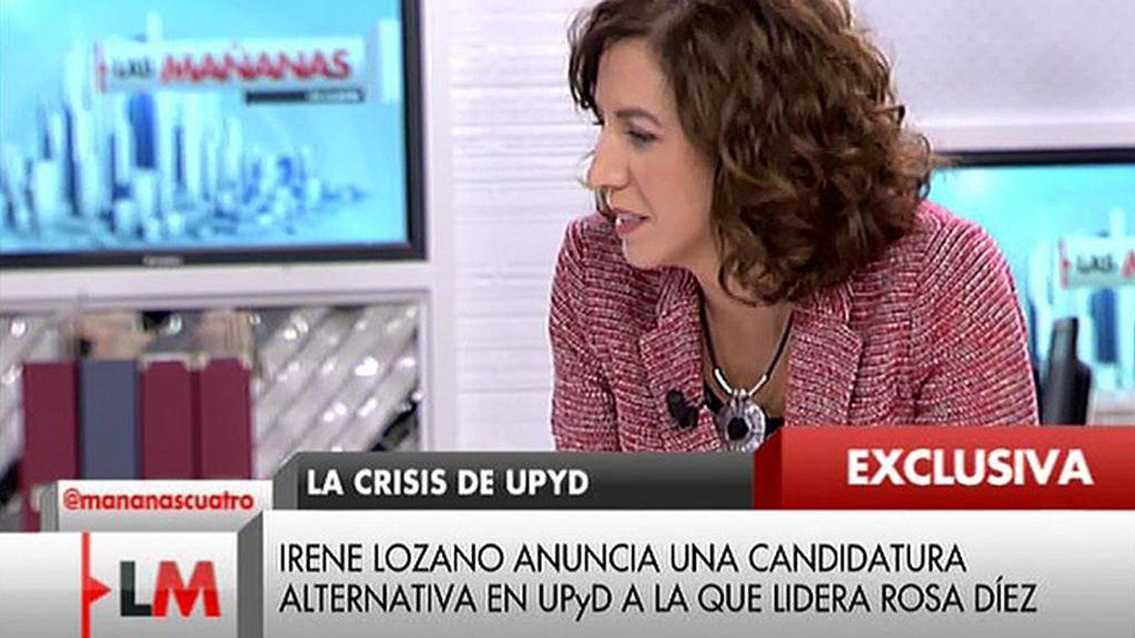 Irene Lozano anuncia que encabezará una lista alternativa en UPyD