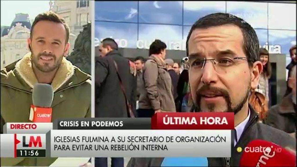 """Iglesias destituye a Sergio Pascual por una gestión """"deficiente"""" en un """"momento delicado"""""""