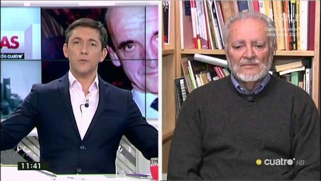 """Julio Anguita, sobre Mario Conde: """"Me gustaría ver calles llenas de gente protestando por tanto ladrón"""""""